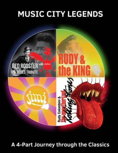 Music City Legends – The Unauthorized Rolling Stones perform classics from Elvis, Jimi Hendrix, the Rolling Stones, and blues artists